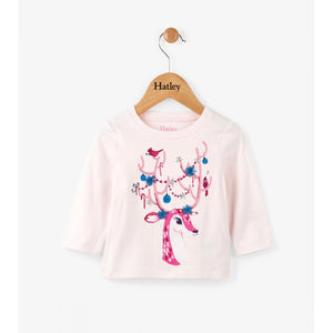 Hatley Antlers Long Sleeve Tee-Baby Girl Apparel - Tees-Hatley-3-6M-Eden Lifestyle
