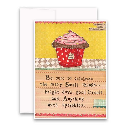 Curly Girl Design, Gifts,  Anything with Sprinkles Greeting Card