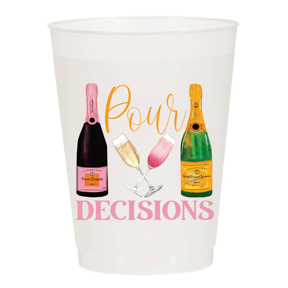 Pour Decisions Champagne - Reusable Cups - Set of 10