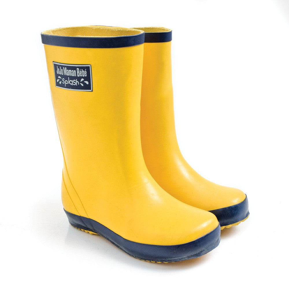 Children's Rain Boots-Shoes - Boy-Jojo Maman Bebe-4-Yellow-Eden Lifestyle