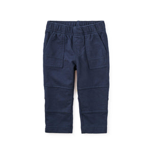 Tea Collection Baby Knit Playwear Pants - Heritage Blue-Baby Boy Apparel - Pants-Tea Collection-3-6M-Eden Lifestyle