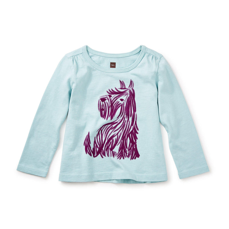 Tea, Tees,  Baby Scottie Graphic Tee