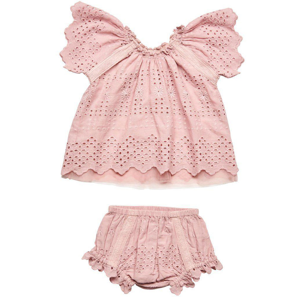 Pink Chicken | Willow 2 Piece Set-Baby Girl Apparel - Outfit Sets-Pink Chicken-3-6M-Eden Lifestyle