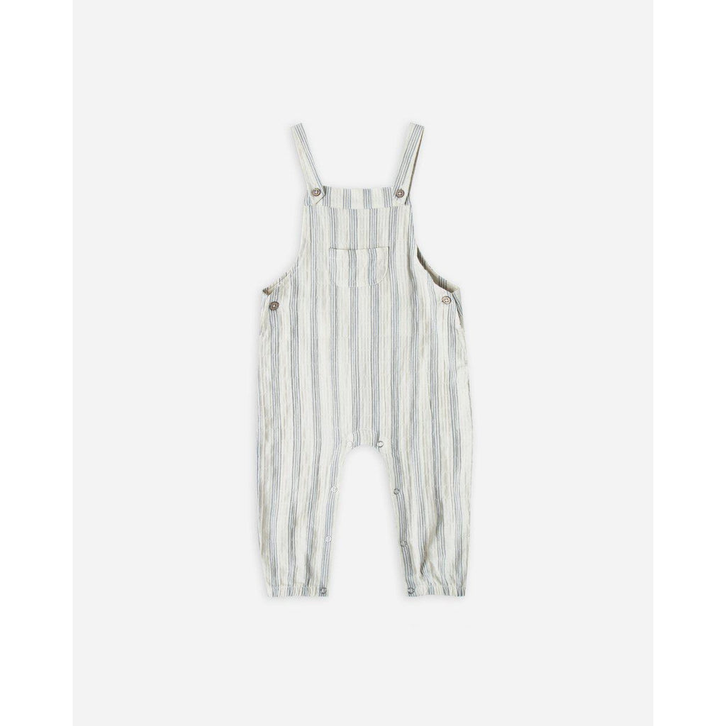 Rylee & Cru Stripe Baby Overall-Baby Boy Apparel - Rompers-Rylee and Cru-6-12M-Stripe-Eden Lifestyle