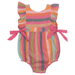 Pink Chicken, Baby Girl Apparel - One-Pieces,  Pink Chicken Amy Bubble Multi Stripe