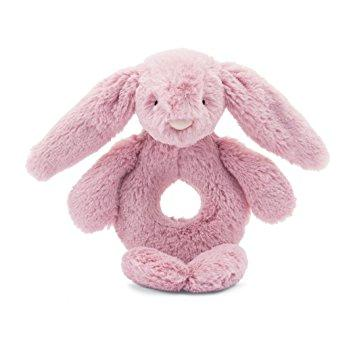 Jellycat, Gifts - Stuffed Animals,  Jellycat Bashful Tulip Bunny Ring Rattle