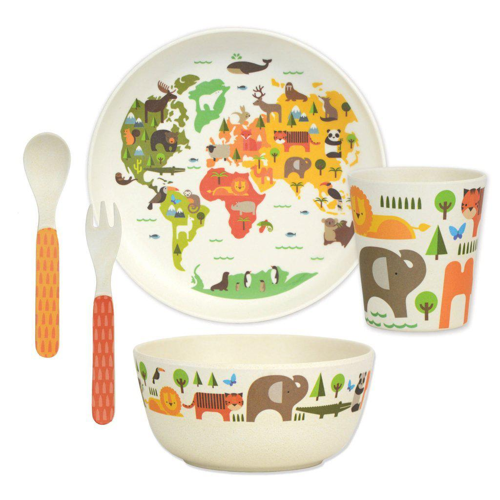 Bamboo Meal Time 5 Piece Set-Baby - Feeding-Petitcollage-Eden Lifestyle