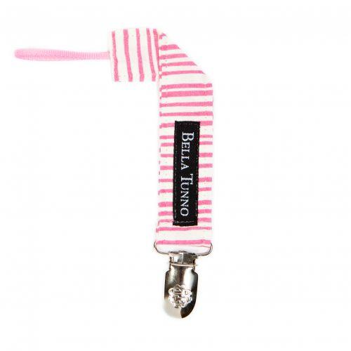 Bella Tunno Pacifier Clip-Accessories-Bella Tunno-Pink Stripe-Eden Lifestyle