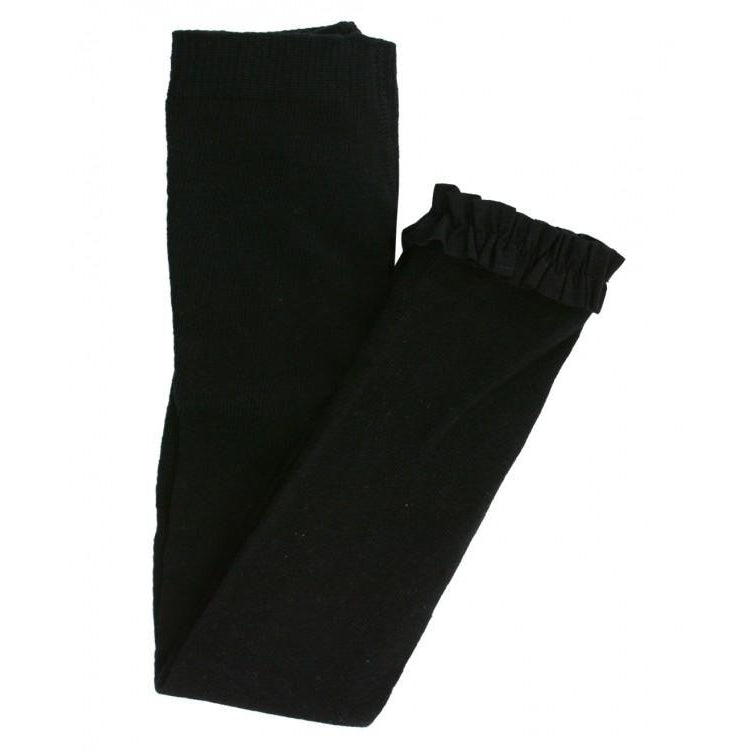Black Footless Tights-Girl - Leggings-Ruffle Butts-6-12M-Eden Lifestyle