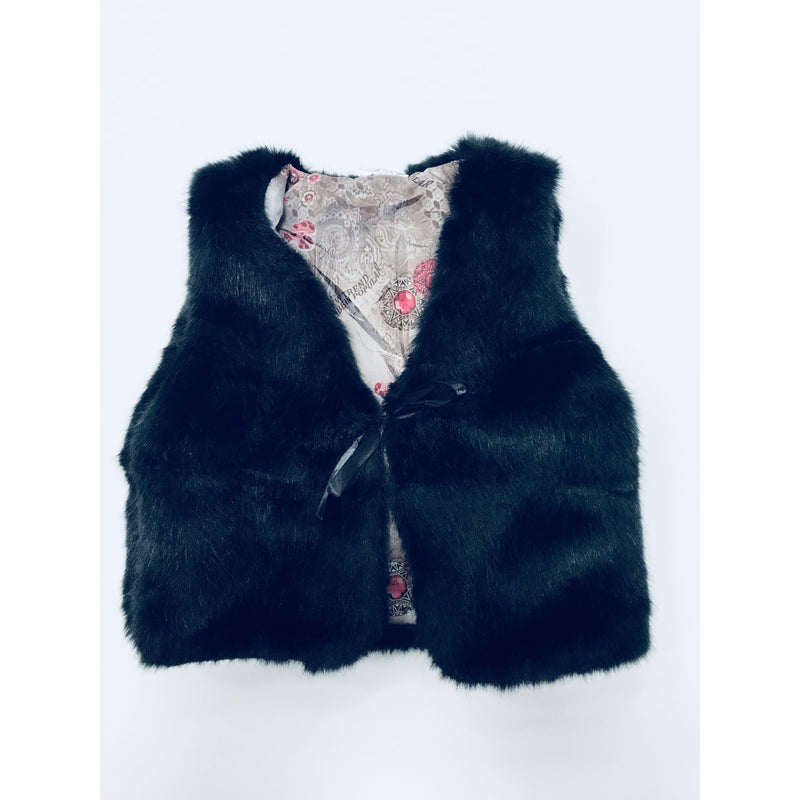 Eden Lifestyle, Tops,  Black Fur Vest