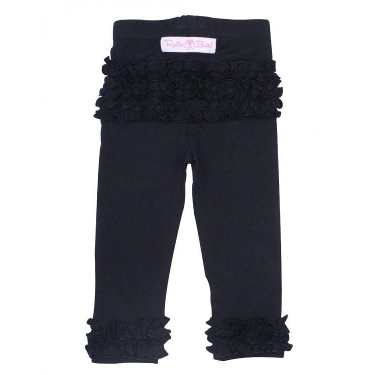 Ruffle Butts, Leggings,  Black Ruffle Leggings