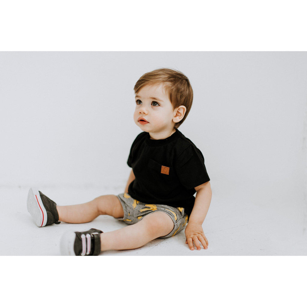 Black Basic Tee-Baby Boy Apparel - Tees-Birdz-12M-Eden Lifestyle