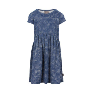 Blue Cotton Dress-Girl - Dresses-Creamie-3-Eden Lifestyle