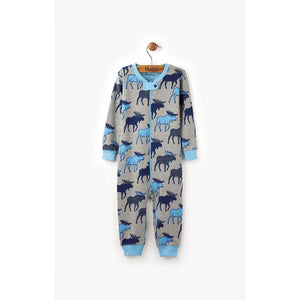 Hatley Blue Moose Coverall-Baby Boy Apparel - Rompers-Hatley-0-3M-Eden Lifestyle