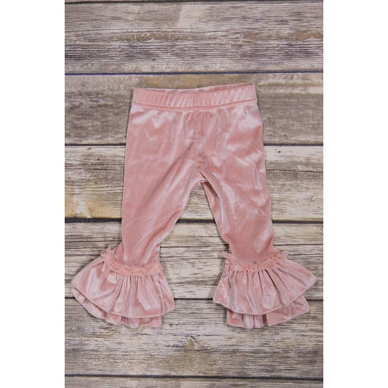 Blush Velvet Leggings-Girl - Leggings-Calla Lily-2T-Eden Lifestyle