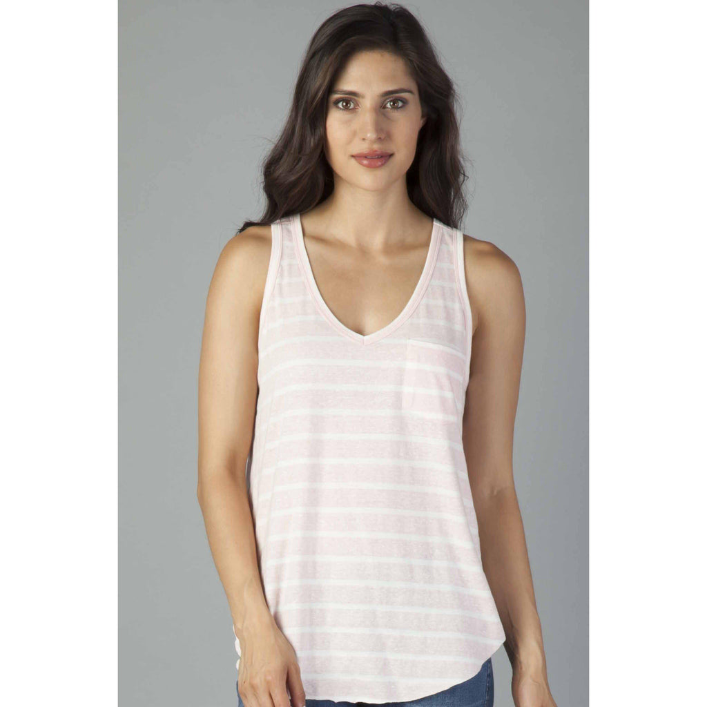 Blush Stripe Tank-Women - Shirts & Tops-Another Love-Small-Eden Lifestyle