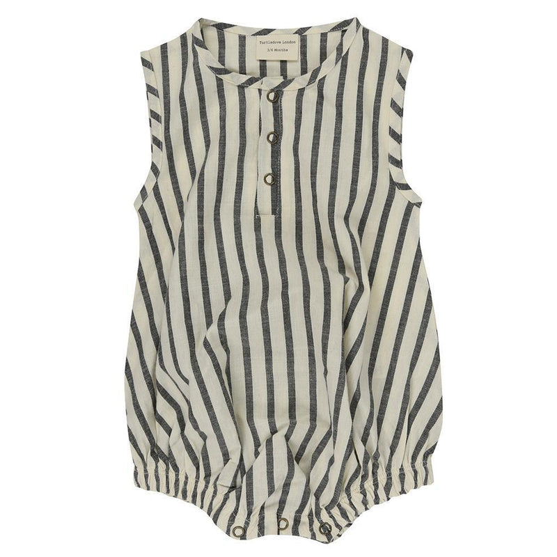 Turtledove London Stripe Woven Bubble Romper-Baby Boy Apparel - One-Pieces-Turtledove London-0-3M-Eden Lifestyle