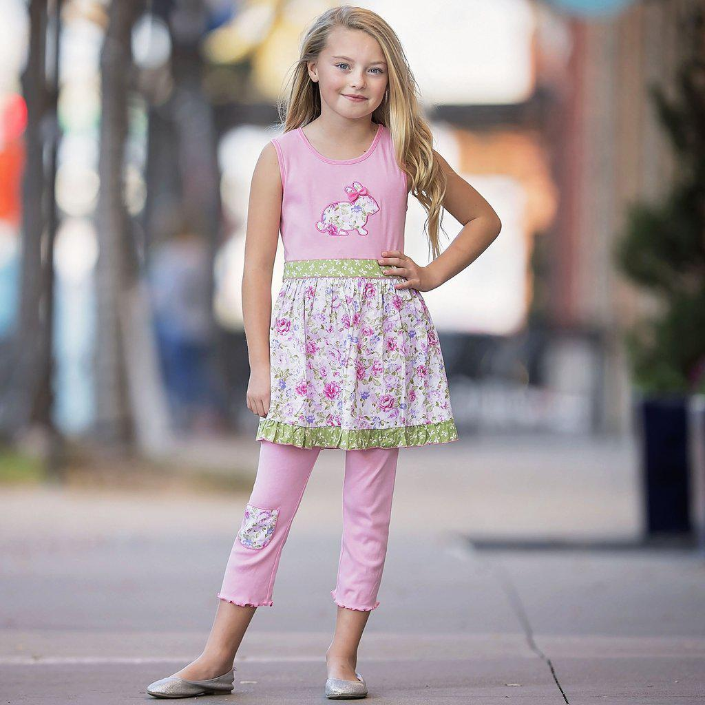 Bunny Girls Set-Baby Girl Apparel - Outfit Sets-Eden Lifestyle-2T-Eden Lifestyle