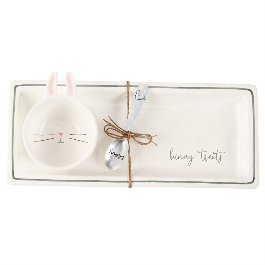 Mud Pie - Bunny Treats Tray Set