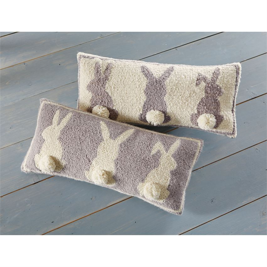 Mud Pie - Triple Bunny Hooked Pillows