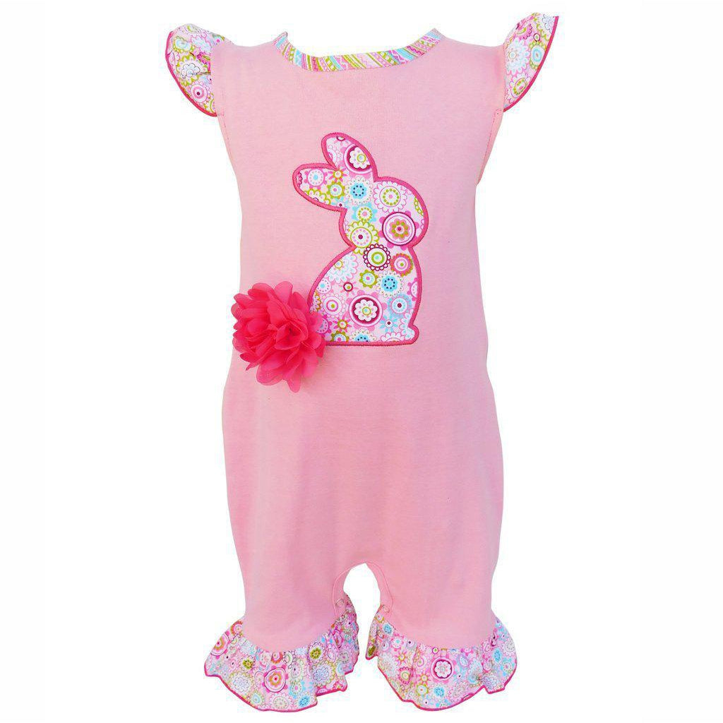 Bunny Romper-Baby Girl Apparel - Rompers-Eden Lifestyle-6-12M-Eden Lifestyle