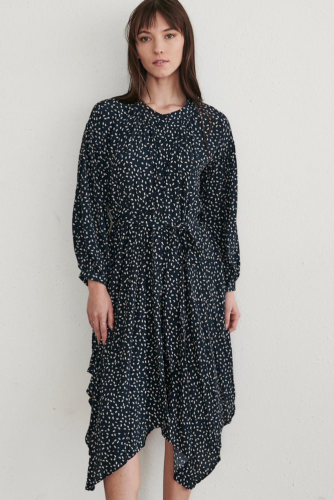 Button Down Dot Dress