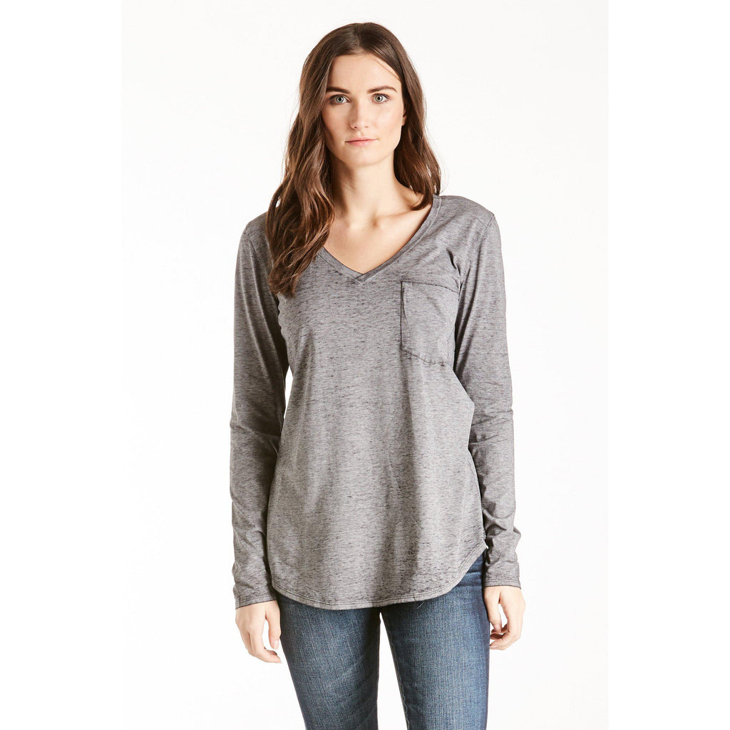 Molly Burnout Long Sleeve Tee-Women - Tees-Another Love-XSmall-Eden Lifestyle