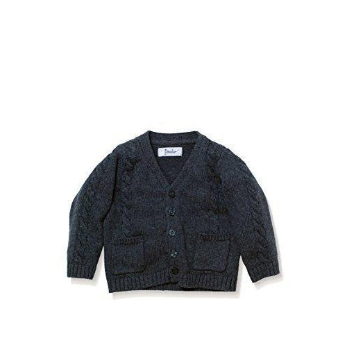 Cable Knit Cardigan - Gray-Boy - Shirts-Frenchie Couture-2T-Eden Lifestyle