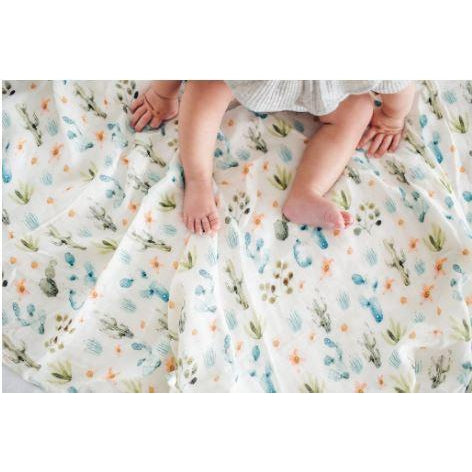 Loulou LOLLIPOP - Swaddle Blanket - Cactus Floral