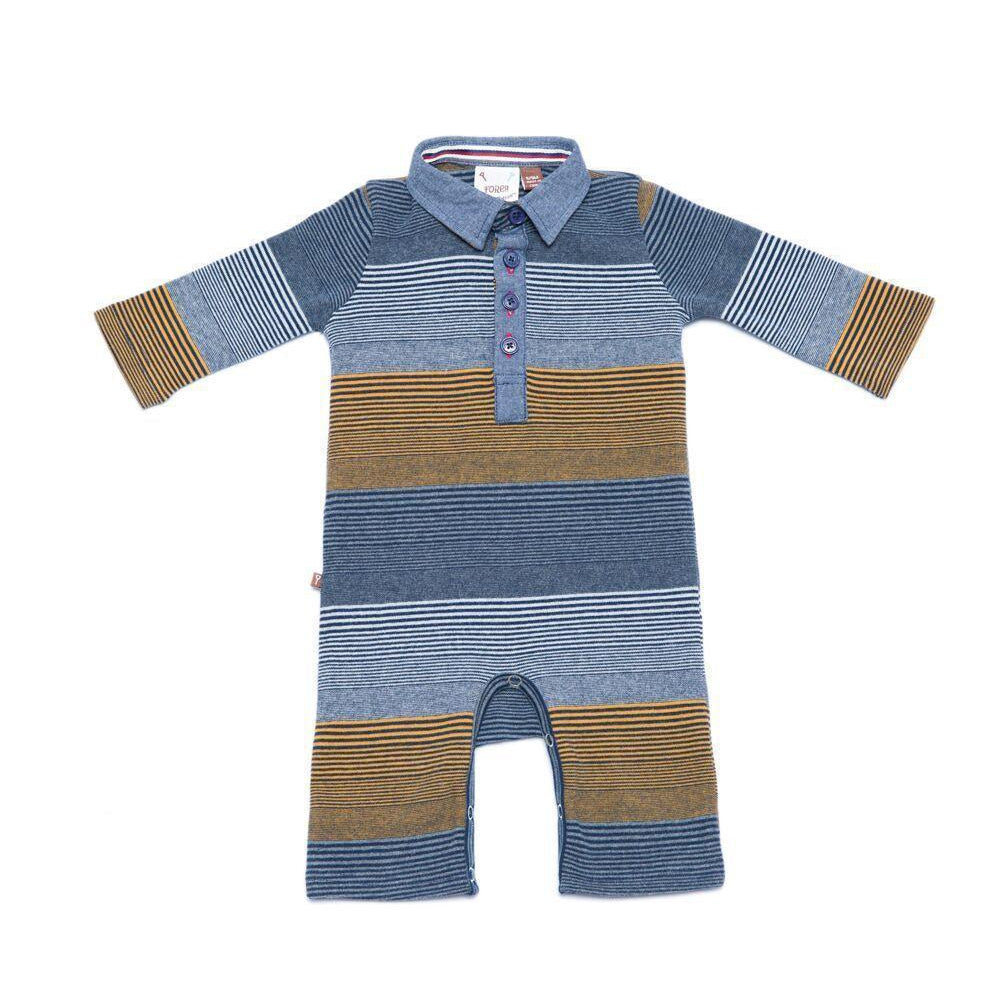 Fore! Axel & Hudson Caddie Romper-Baby Boy Apparel - Rompers-Fore-3-6M-Eden Lifestyle