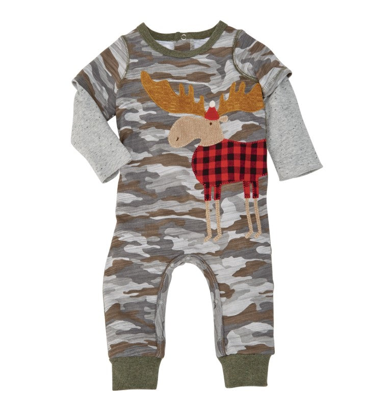 Mudpie Camo Moose One Piece