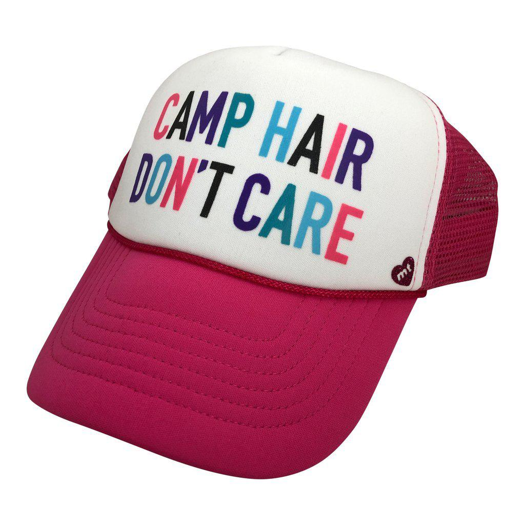 Camp Hair Don't Care Youth Mother Trucker Hat-Accessories - Hats-Mother Trucker-Eden Lifestyle