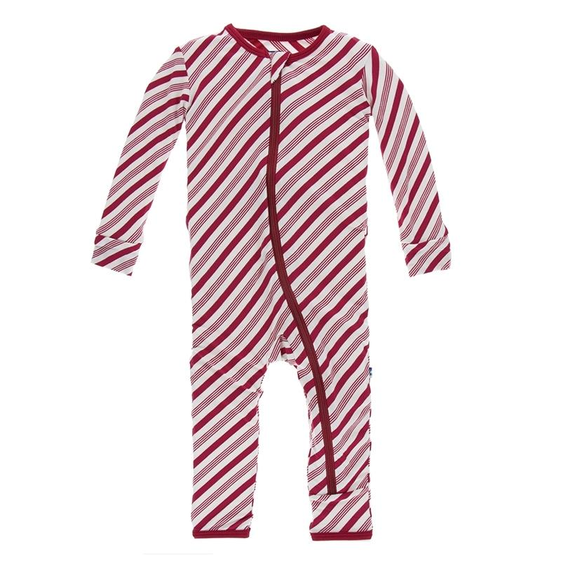 KicKee Pants - Candy Cane Stripe Boy's Romper-Baby Boy Apparel - Rompers-KicKee Pants-9-12M-Eden Lifestyle