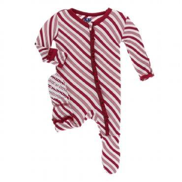 KicKee Pants, Footie,  Candy Cane Stripe Girl's Footie