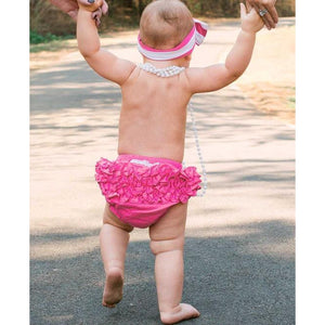 Ruffle Butts, Baby Girl Apparel - Bloomers,  Candy Pink Woven RuffleButt
