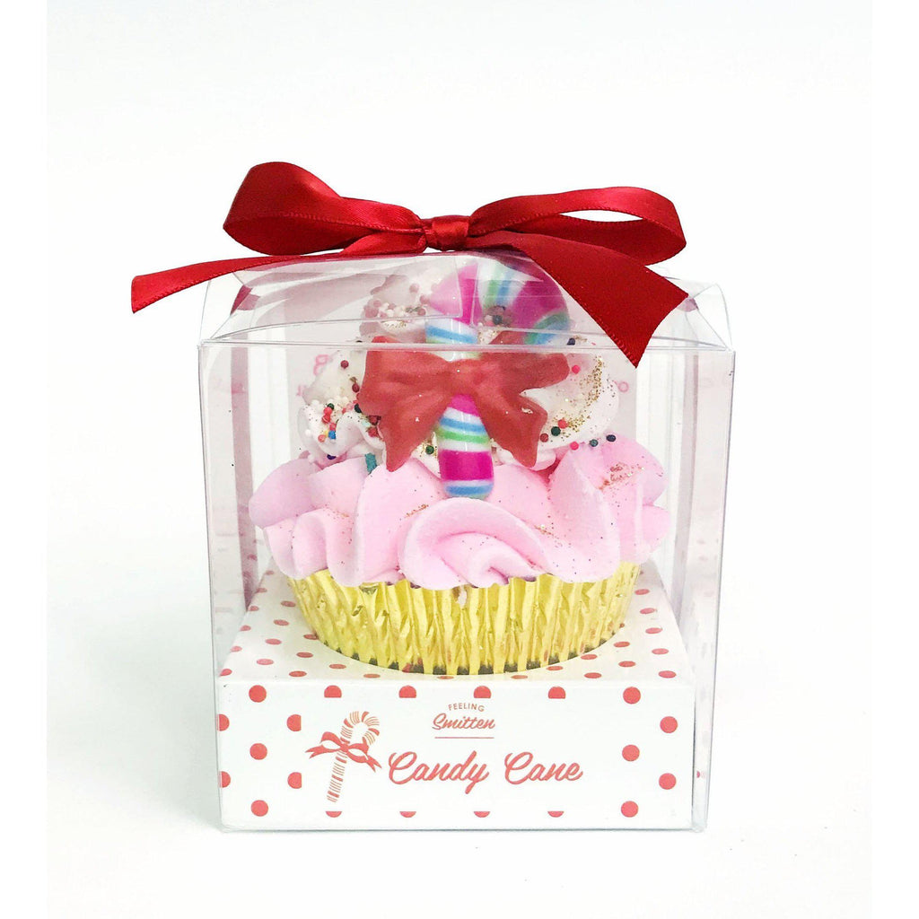 Large Cupcake Gifts - Bath Bombs Christmas-Gifts - Bath Bombs-Eden Lifestyle-Candy Cane-Eden Lifestyle