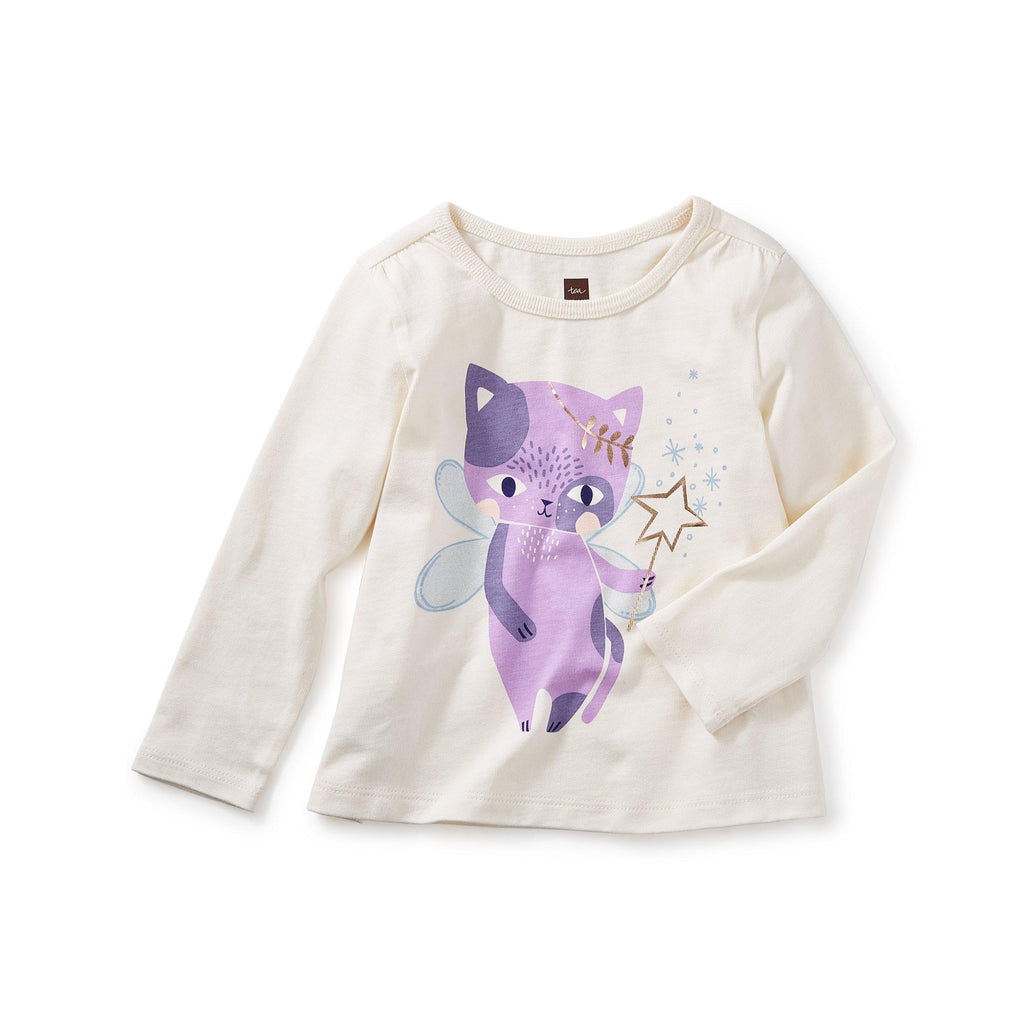 Cat Fairy Graphic Tee-Baby Girl Apparel - Tees-Tea Collection-6-9M-Eden Lifestyle