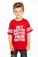Chaser Boys Cardinal Batter Up Tee