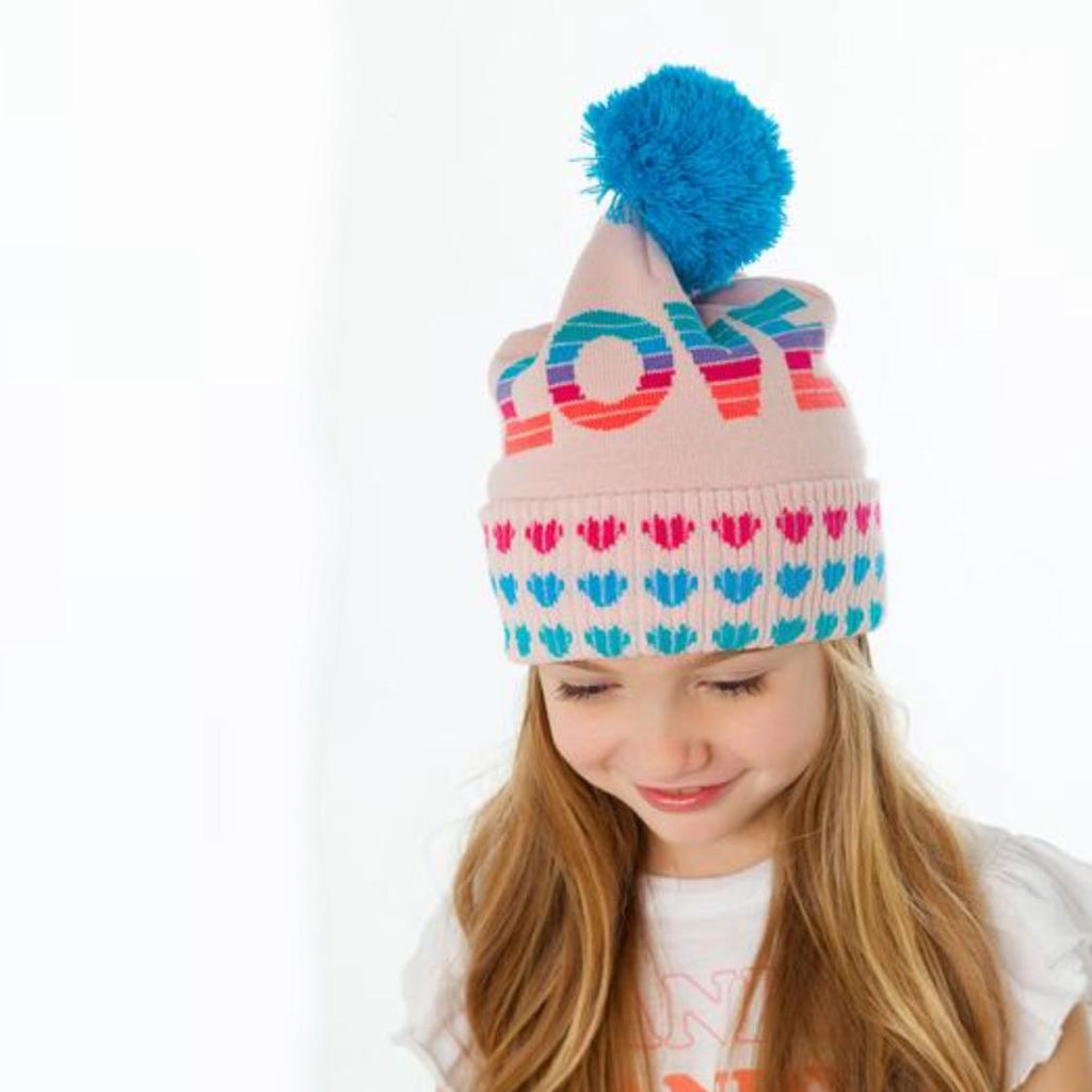 Chaser Girls Love Hearts Beanie-Accessories - Hats-Chaser-Eden Lifestyle