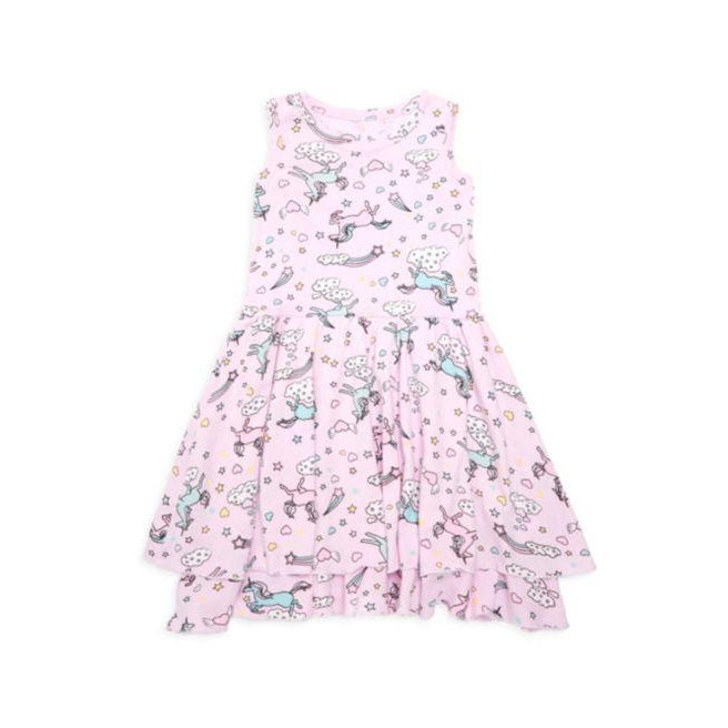 Chaser Girls Tiered Darling Unicorns Dress-Girl - Dresses-Chaser-3-Eden Lifestyle