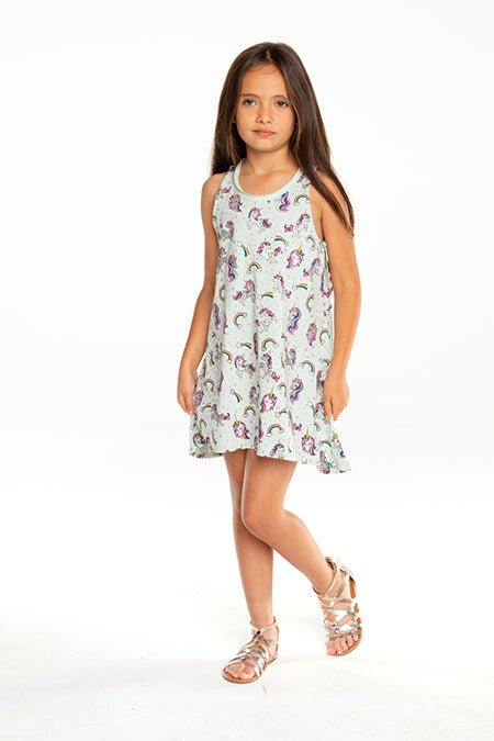 Chaser - Unicorn Toss Dress Daiquiri