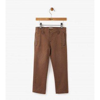 Hatley Chocolate Twill Khakis-Boy - Pants-Hatley-3-Eden Lifestyle