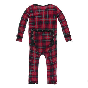 KicKee Pants, Baby Girl Apparel - Rompers,  KicKee Pants - Christmas Plaid Girl's Romper