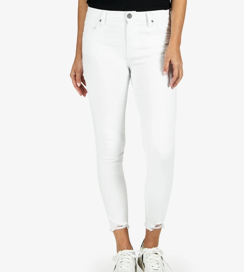 Kut from the Kloth Connie High Rise Ankle Skinny (Optic White)