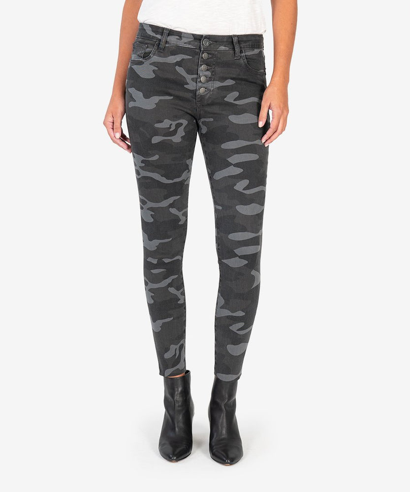KUT from the Kloth, Women - Denim,  KUT from the Kloth | CONNIE HIGH RISE SLIM FIT ANKLE SKINNY (BLACK/GREY)
