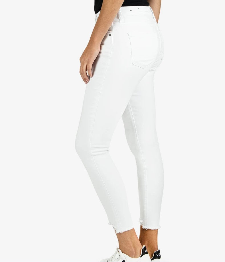 KUT from the Kloth, Women - Denim,  Kut from the Kloth Connie High Rise Ankle Skinny (Optic White)