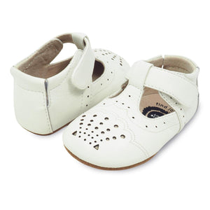 Livie & Luca Cora-Shoes - Girl-Livie & Luca-0-6M-Milk-Eden Lifestyle