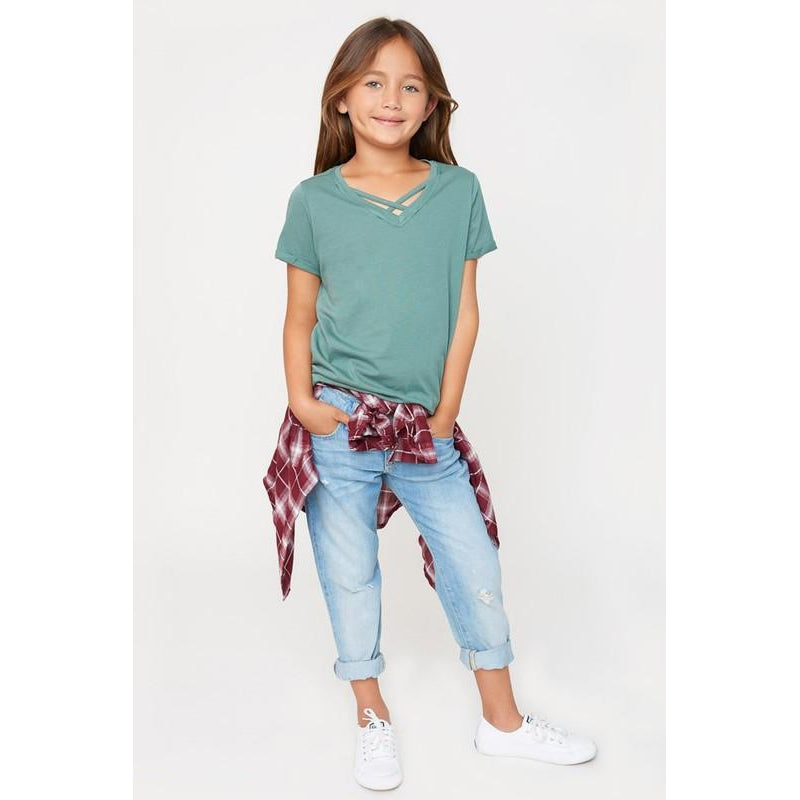 Criss Cross Top-Girl - Shirts & Tops-Hayden LA-7-Eden Lifestyle