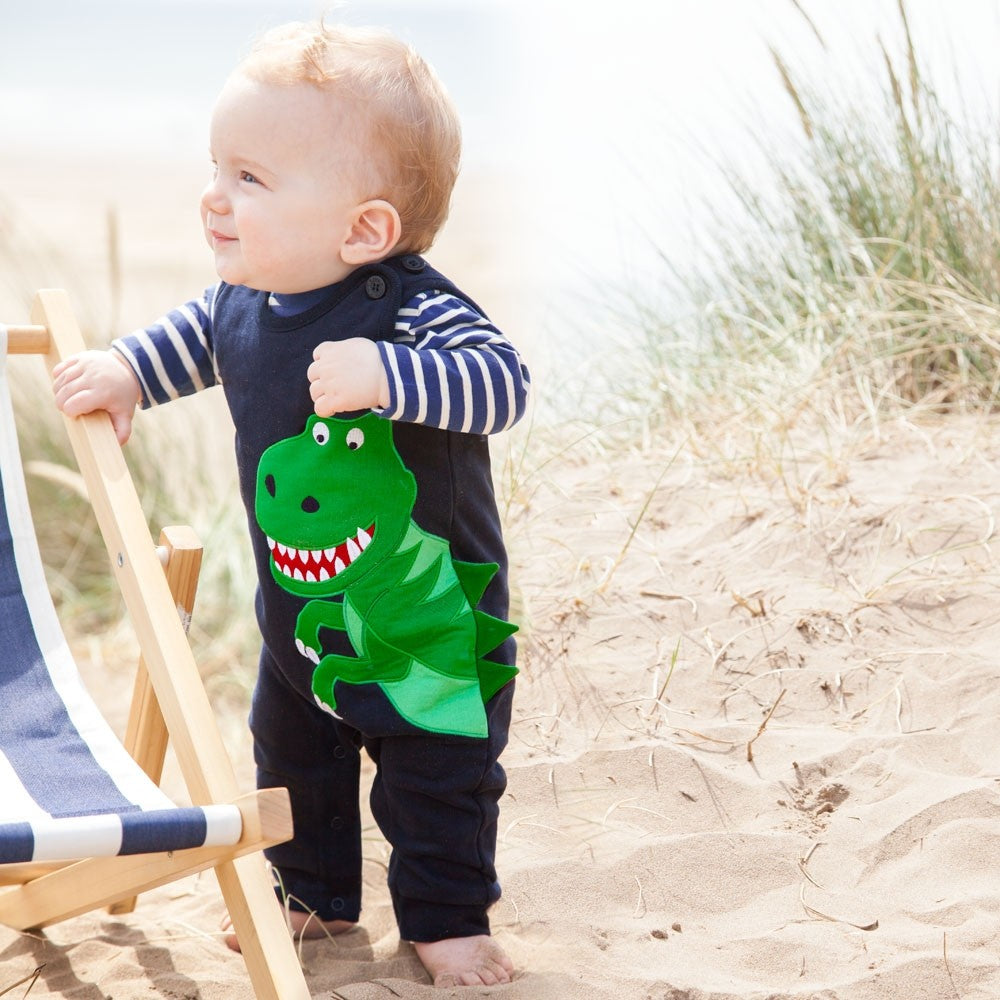 Dinosaur Baby Overalls Set-Baby Boy Apparel - Rompers-Jojo Maman Bebe-3-6M-Eden Lifestyle