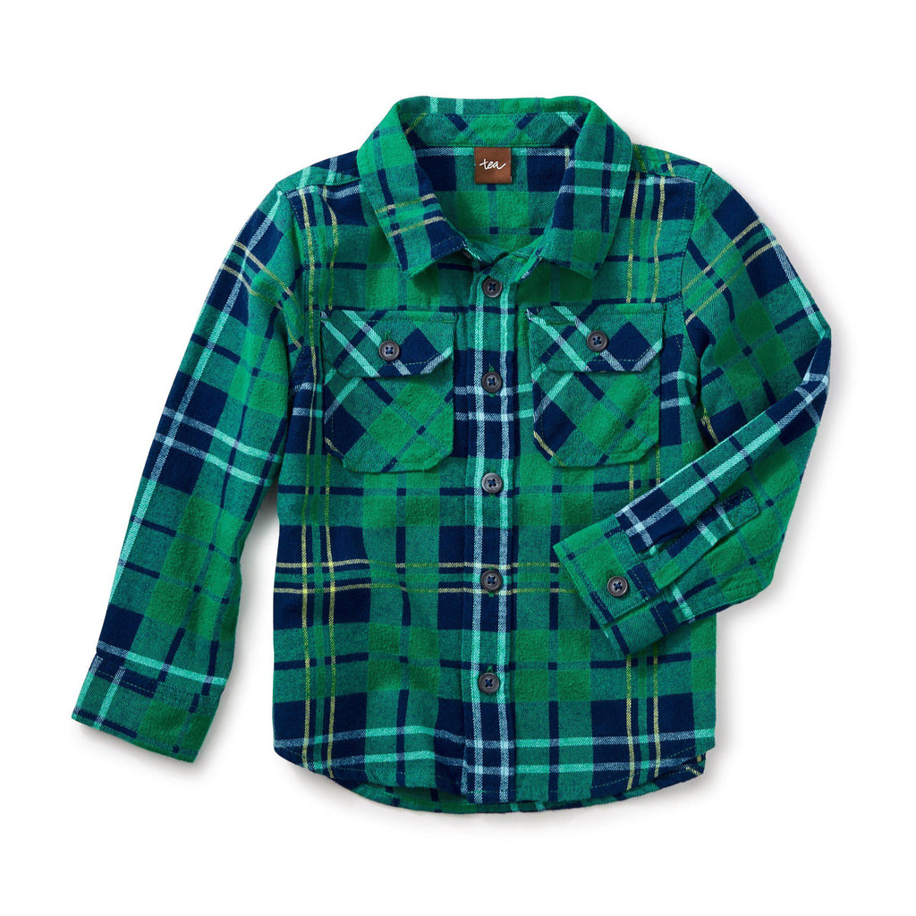 Dougal Flannel Shirt-Boy - Shirts-Tea Collection-2-Eden Lifestyle